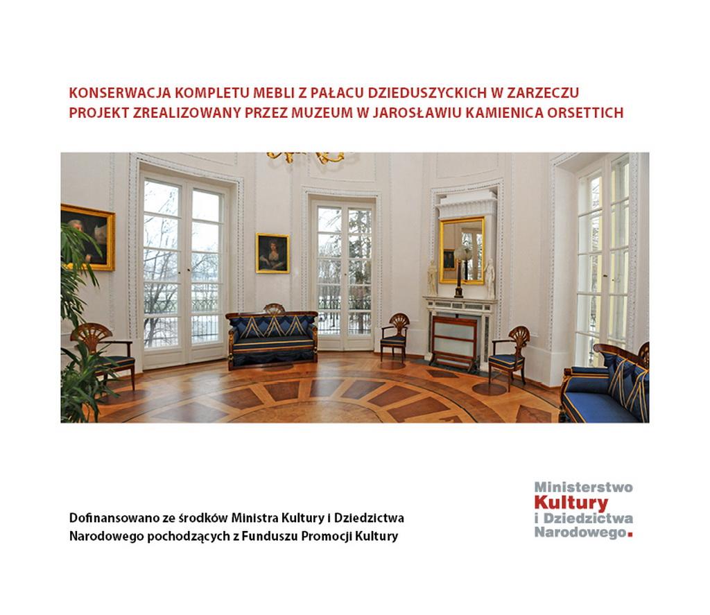 Konserwacja mebli z Pałacu Dzieduszyckich w Zarzeczu