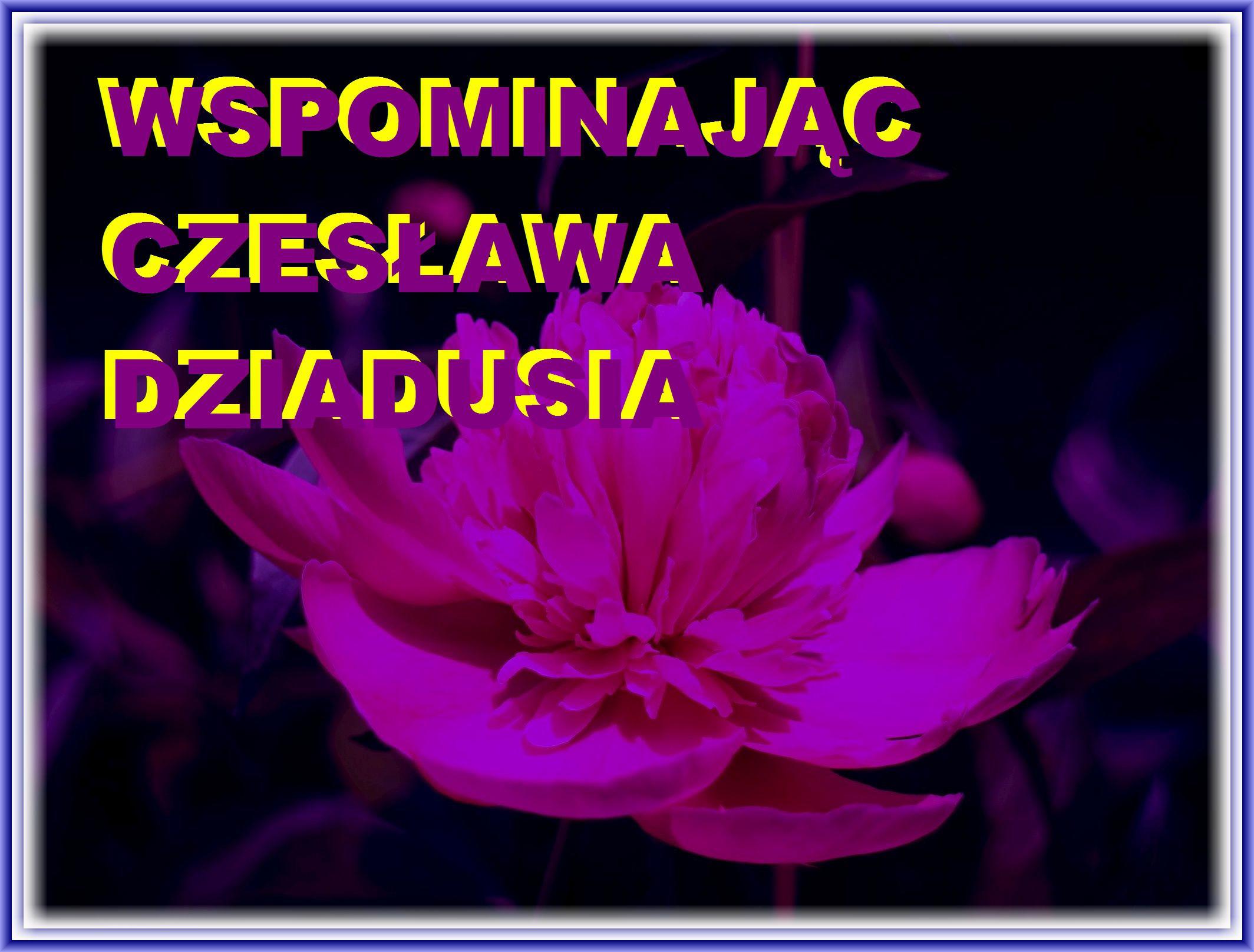 Wspomnienie Czesława Dziadusia